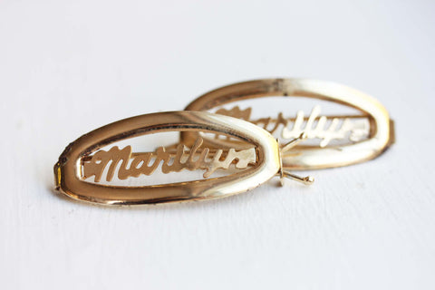 Vintage Hair Clips - Marilyn