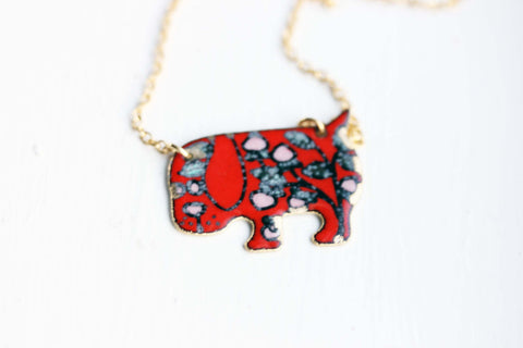 Enamel Puppy Necklace