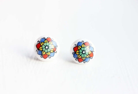 Flower Kaleidoscope Studs