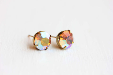 Austrian Crystal Studs - Rose Mirror