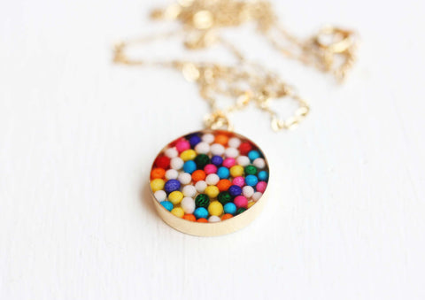 Gold Resin Candy Necklace