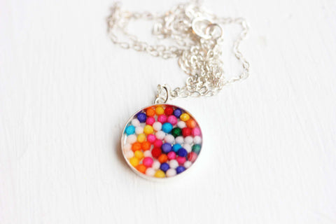 Silver Resin Candy Necklace
