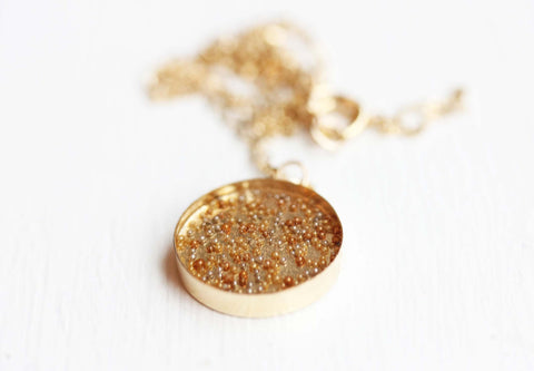Gold Champagne Bubbles Necklace