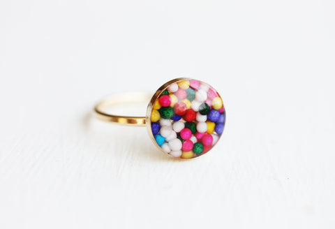 Gold Fill Candy Resin Ring