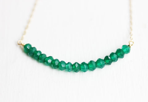 Green Agate Beaded Necklace
