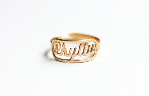 Vintage Name Ring - Phyllis