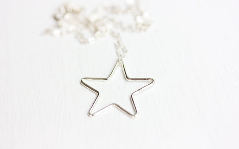 Simple Sterling Star Necklace