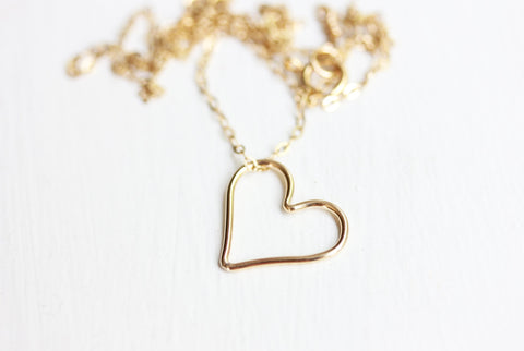 Sweet Gold Heart Necklace