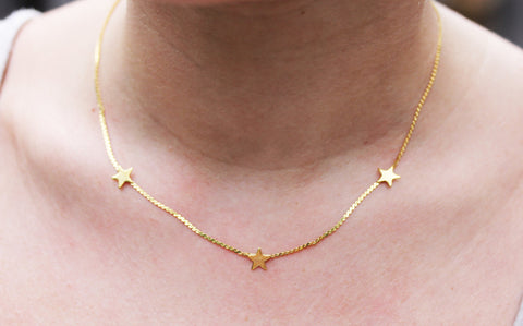 Three Star Chain Necklace