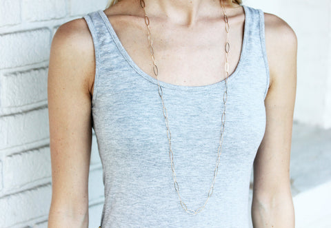 Gold Fill Chain Link Necklace