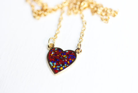 Confetti Heart Necklace