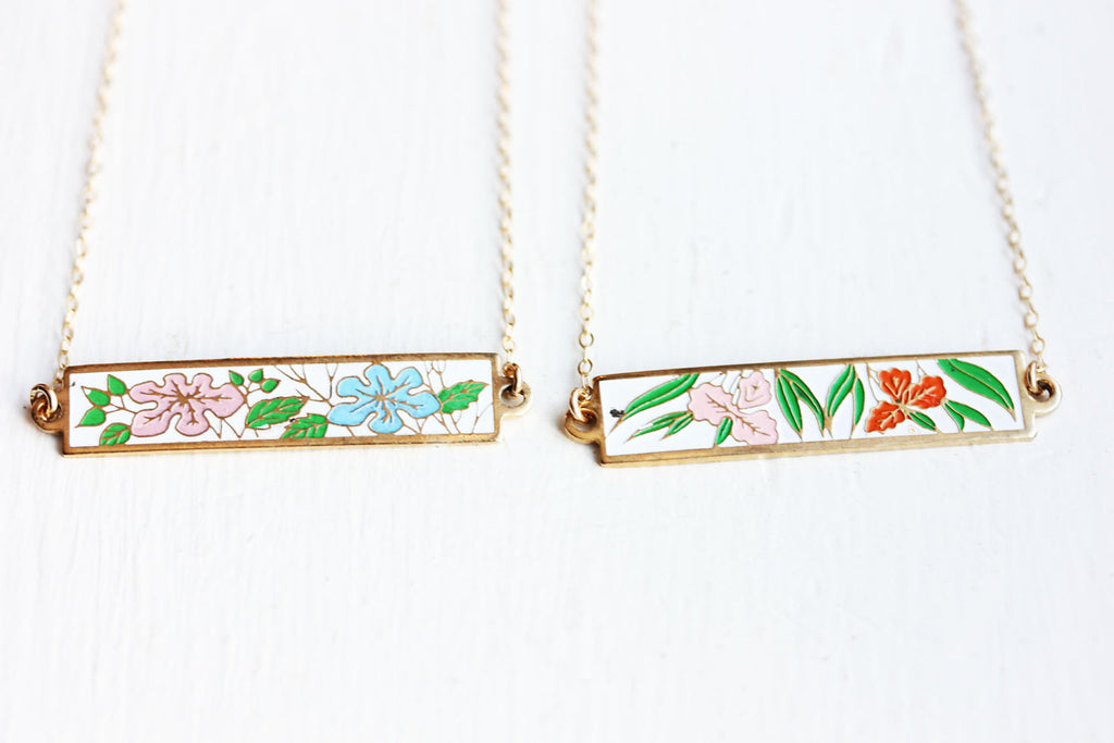 Flower Bar Necklace from Diament Jewelry, a gift shop in Washington, DC.
