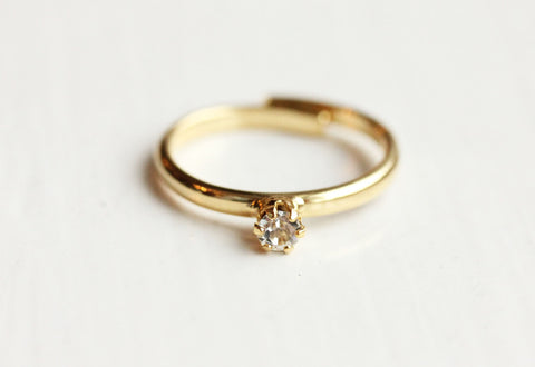 Tiny Crystal Dot Ring