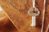 Small Silver Triangle Key Necklace