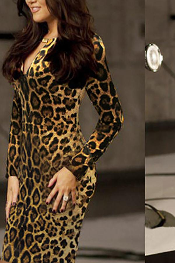 Sexy Temperament Leopard Print Bodycon