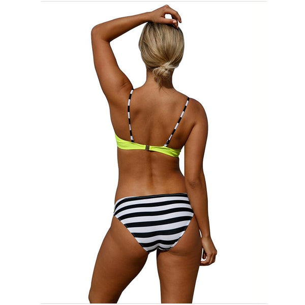 Sexy Bikini Cross Sling Split Swimsuit