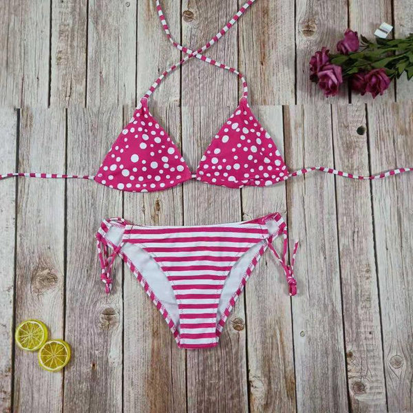 Sexy Bikini Strap Split Swimsuit