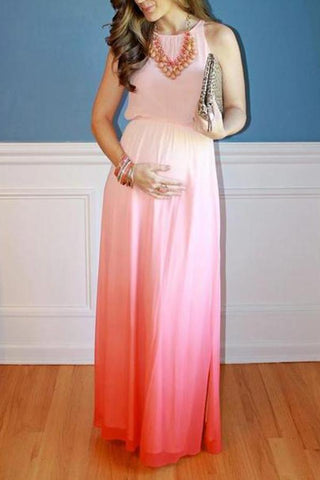 Maternity Gradient Full Length Dress