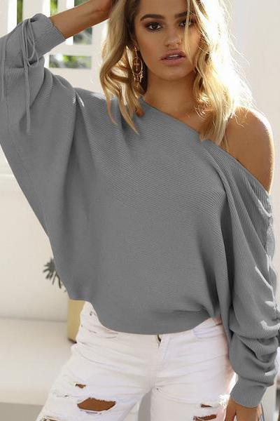 Ruffle Knitted Sweater