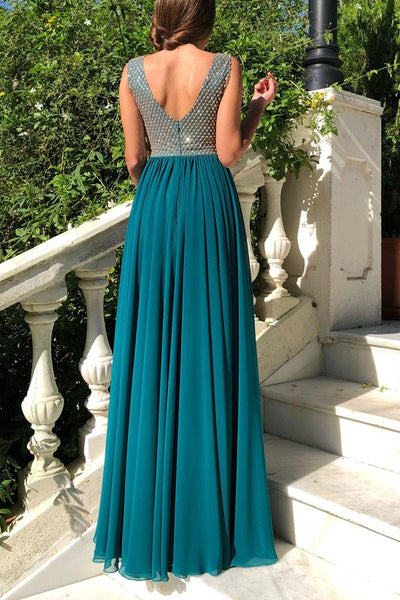 Sleeveless Slim Dress Chiffon Maxi Dress