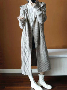 Fashion Winter Plain Thicken Loose Long Coat