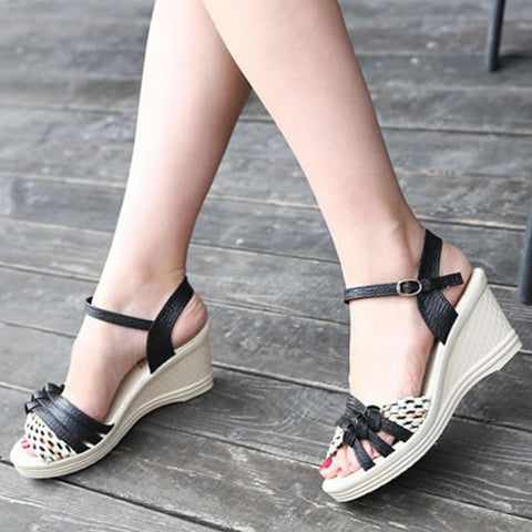 Color Block  High Heeled  Ankle Strap  Peep Toe  Date Office Sandals