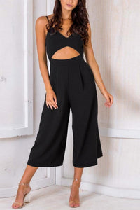 Sexy Fashion Zipper Backless Jumpsuit