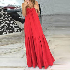 Sexy V-Neck Sleeveless Beach Maxi Dress