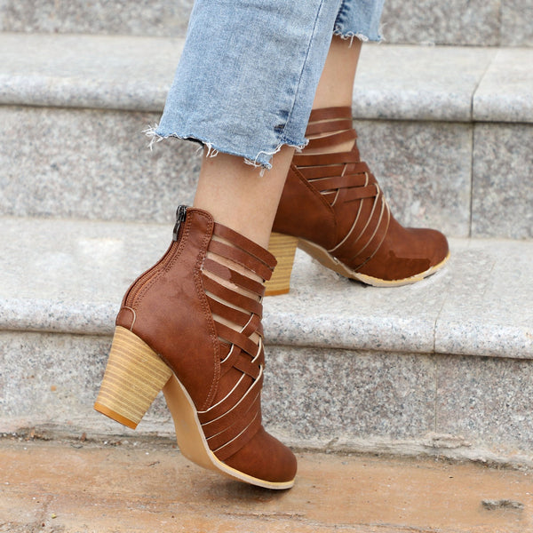Large Size Hollow High Heel Boots