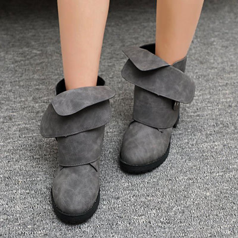 Fashion Flat Heels Causal Boots
