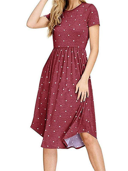 Polka Dot Bohemian Skater Dress