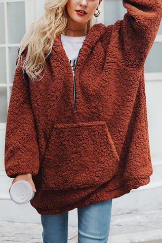 Plush Loose Sweater Coat