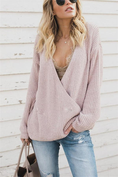 Loose Large Size Knitted Sweater Worn On Both Sides