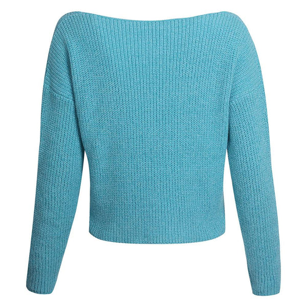 Sexy V-Neck Long-Sleeved Knitted Sweaters