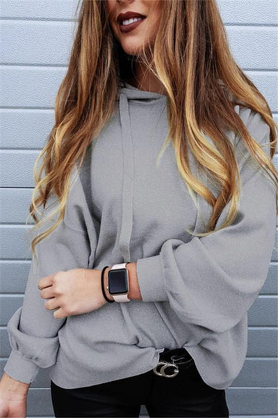 Pure Color Oversize Hooded Fleece