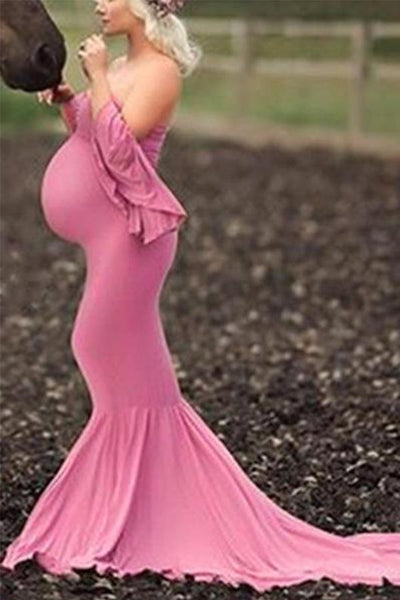 Maternity Pink Gorgeous Gown