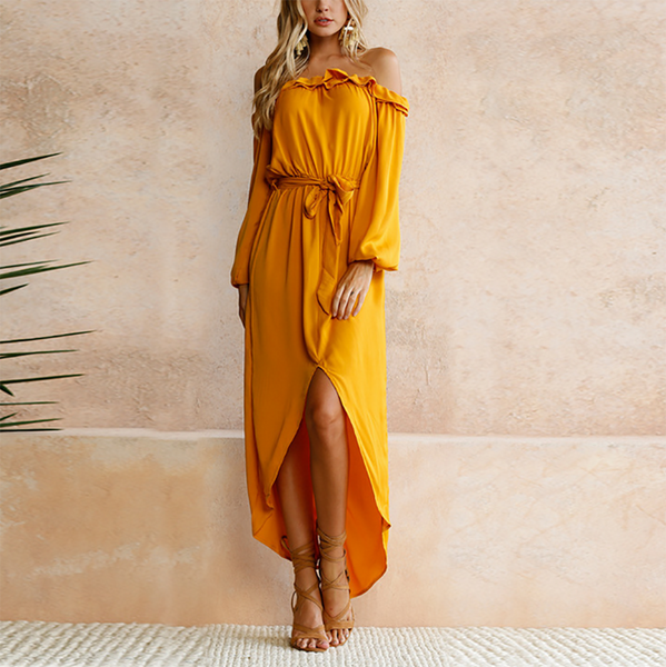 Sexy Off Shoulder Maxi Dress