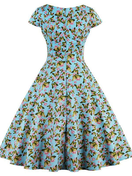 Sweet Heart  Printed Vintage Skater Dress