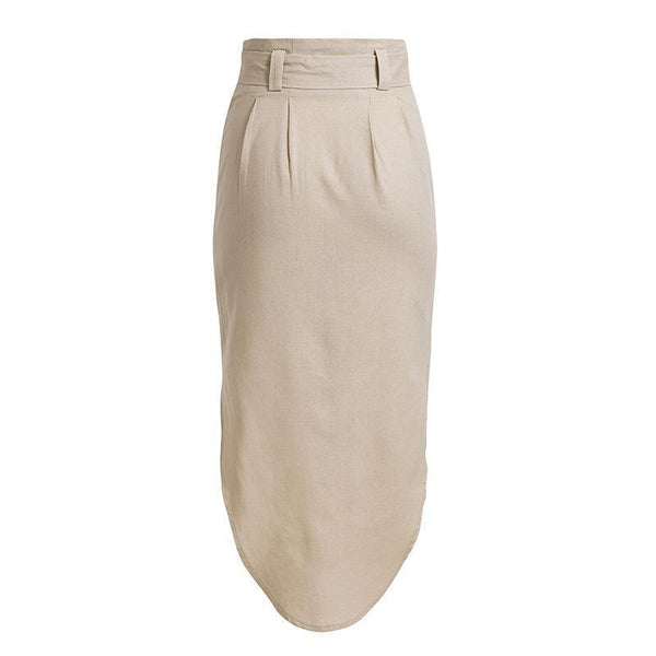 Stylish Sexy Solid Color Button Skirt