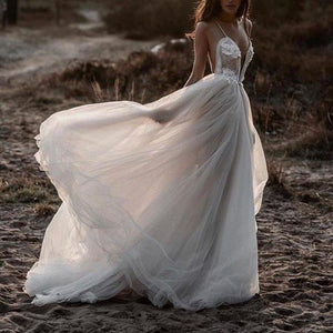 Fashion Sexy Strapless Backless   Wedding Dress