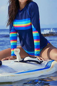 Surf suit quick-drying sunscreen long-sleeved swimsuit split suit