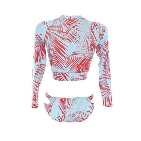 Sexy sunscreen diving long sleeve split swimsuit