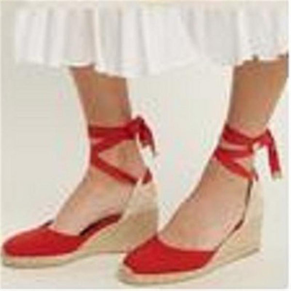 Summer fashion wedge with high heel platform Baotou sandals 40-4Large size bandage sandals