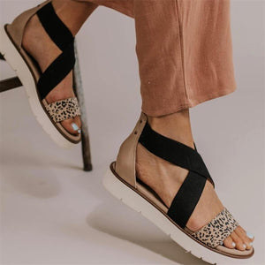 Fashion retro wild leopard sandals