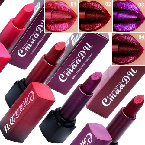 2019 Lasting Not Fade Lipstick Waterproof Lip Makeup Metal Color