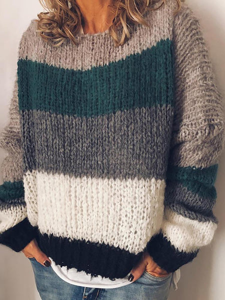 Fashion Long Sleeve Colouring Sweater