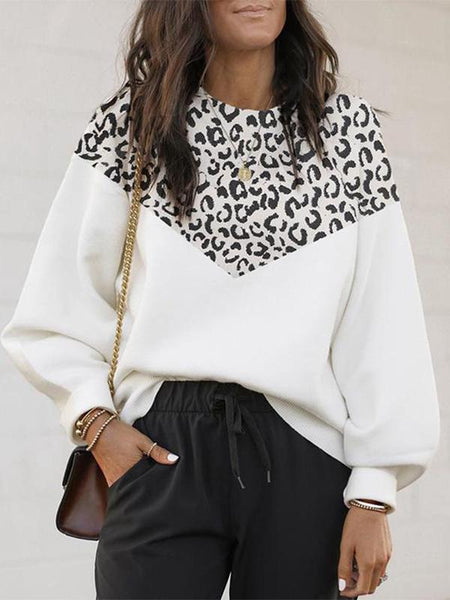 Women's Mosaic Leopard Sweater