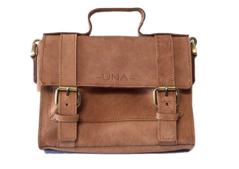 Sandy Brown Eco Leather Mini Messenger & Bike Bag