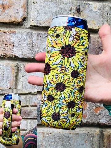 Sunflower Delight Slim Can Cooler