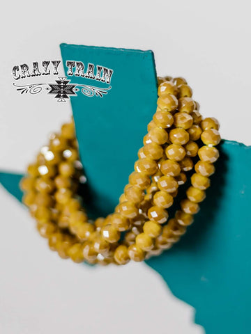 Honey Mustard Stretch Bracelet